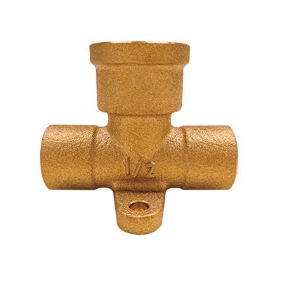 銅管用座付き水栓チーズ <GZTF>